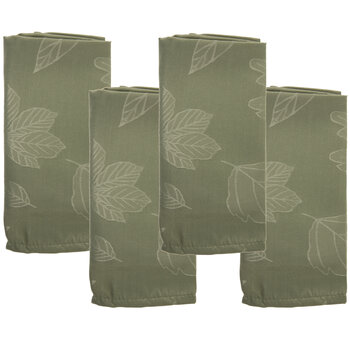 Green Leaves Cloth Napkins