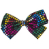 Black & Rainbow Polka Dot Bow Hair Clip