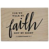 2 Corinthians 5:7 Rubber Stamp