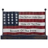 One Nation Flag Metal Decor