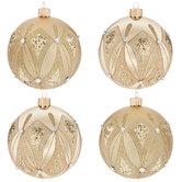 Champagne Glitter With Rhinestones Ball Ornaments