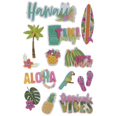 Hawaii Floral 3D Stickers