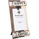 "Happy Campers Wood Clip Frame - 5"" x 7"""