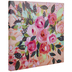 Pink Roses Painted Canvas Wall Decor