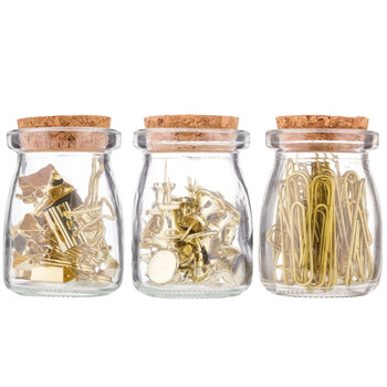 Clips & Pins In Jars