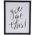 You Got This Wood Wall Decor