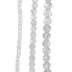 Clear Round Crackle Glass Bead Strands