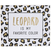 Leopard Favorite Color Wood Wall Decor