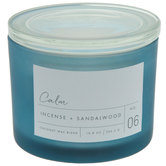 Calm Incense & Sandalwood Jar Candle