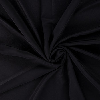 Black Polyester Faille Fabric