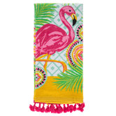 Flamingo & Tassel Kitchen Towel