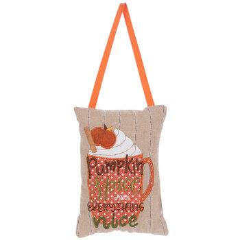 Pumpkin Spice Pillow Door Hanger