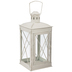 White Metal Lantern - Large