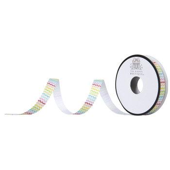 "Multi-Color Wavy Grosgrain Ribbon - 3/8"""