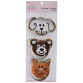 Dog, Cat & Bear Metal Cookie Cutters