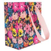Navy Floral Gift Bag