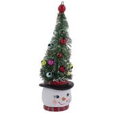 Tree Hat Snowman Ornament