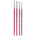 Gold Nylon Paint Brushes - 4 Piece Set