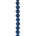 Dark Blue Dyed Jade Round Bead Strand