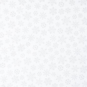 White Snowflake Cotton Apparel Fabric