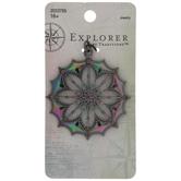 Rainbow Filigree Metal Pendant