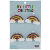 Glitter Rainbow Ornaments