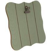Green Quatrefoil Shiplap Wood Clip Frame