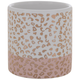 Gold & Pink Cheetah Print Container