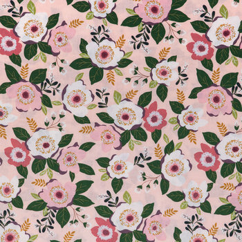 Rose Floral Cotton Apparel Fabric