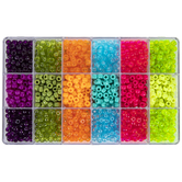 Faceted & Frosted Plastic Bead Box