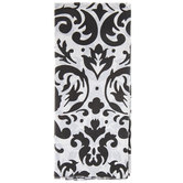 White & Black Damask Tissue Paper