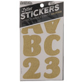 Glitter Letter & Number Stickers