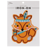 Native Fox Iron-On Applique