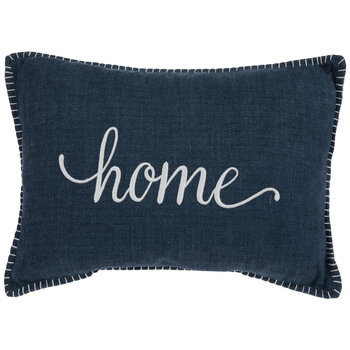 Blue & White Home Pillow