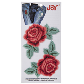 Pink Rose Iron-On Appliques