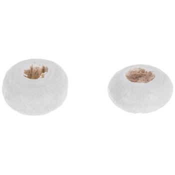 White Wood Beads - 2mm x 4mm