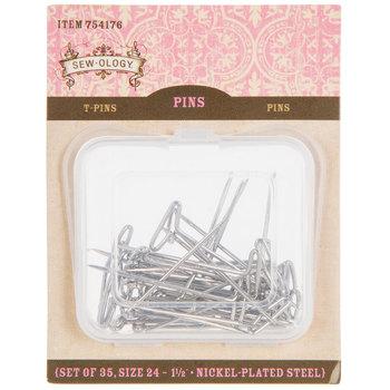 Nickel-Plated Steel T-Pins