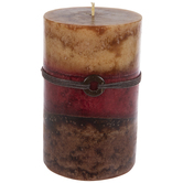 Tuscan Sunset Layered Pillar Candle