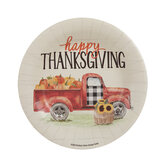 Happy Thanksgiving Truck Paper Plates