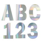 Holographic Alphabet Stickers - Large