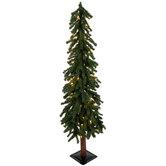 Green Alpine Pre-Lit Christmas Tree - 4'