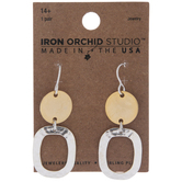 Solid & Hammered Round Earrings