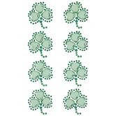 Green Clover Rhinestone Stickers