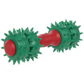Red & Green Barbell Dog Toy