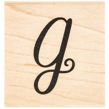 Script Letter Rubber Stamp - G