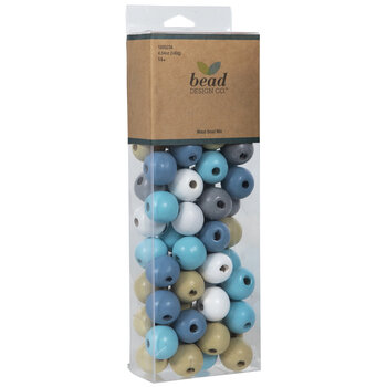 Round Wood Bead Mix