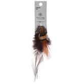 Brown & Orange Feather Pendant