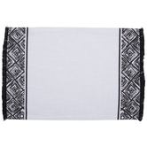 Black Geometric Fringe Placemat