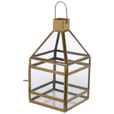Gold Glass Lantern