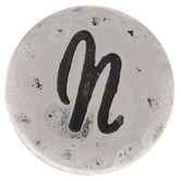Hammered Letter Mini Snap Charm - N